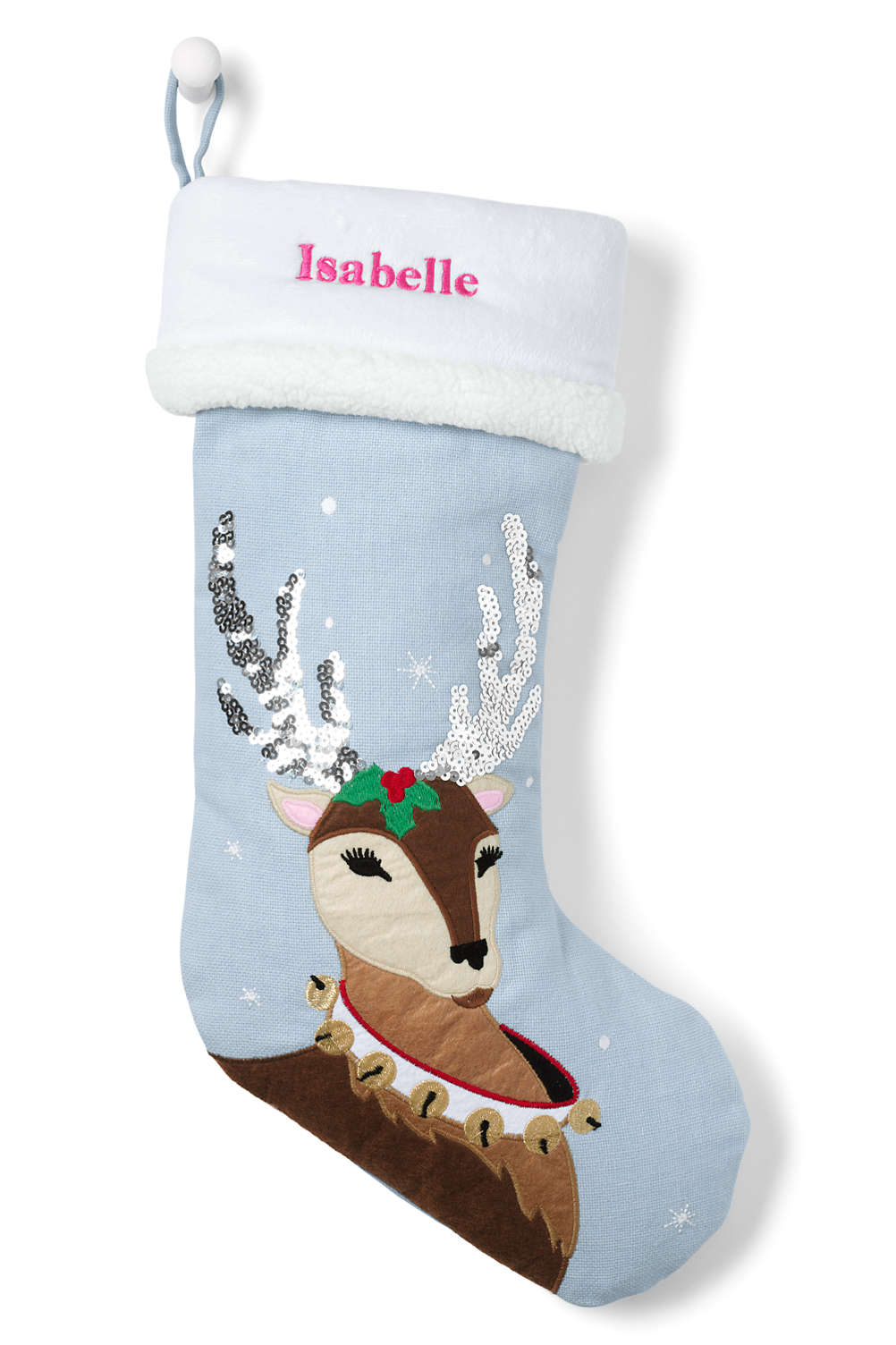 Kids Appliqué Christmas Stocking from Lands\' End