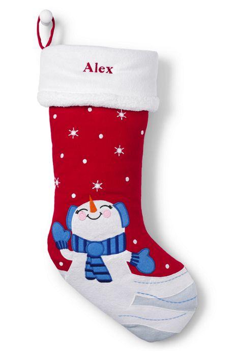 Kids Applique Christmas Stocking