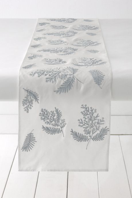 Sprig Embroidered Table Runner (14x96)