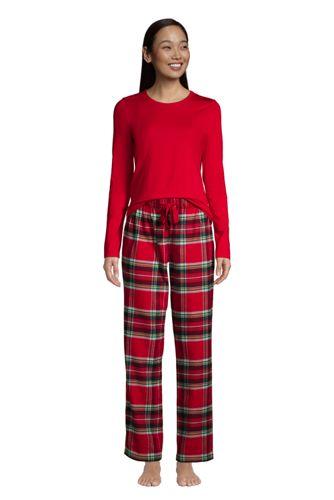 Le Pyjama 2 Pièces en Flanelle à Motifs, Femme Stature Standard