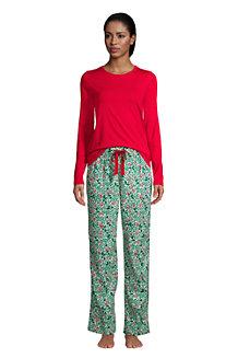 Le Pyjama 2 Pièces en Flanelle à Motifs, Femme