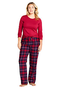 Womens Flannel Pajamas Plaid Pajamas Lands End
