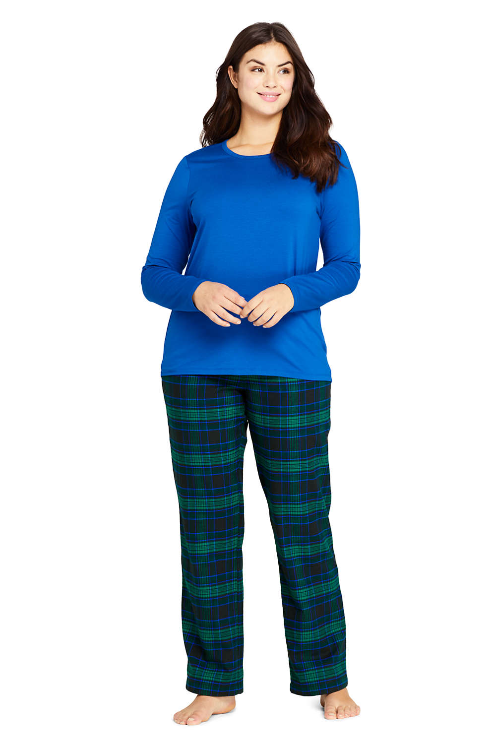 aesthetic appearance uk cheap sale best deals on Women's Plus Size Knit Flannel Pajama Set