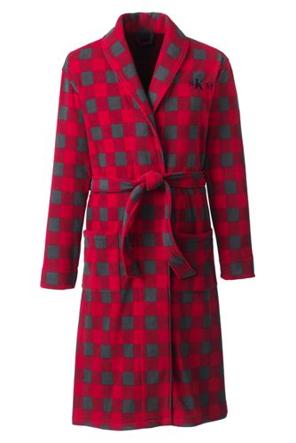 La Robe de Chambre en Polaire Imprimée, Homme Stature Standard