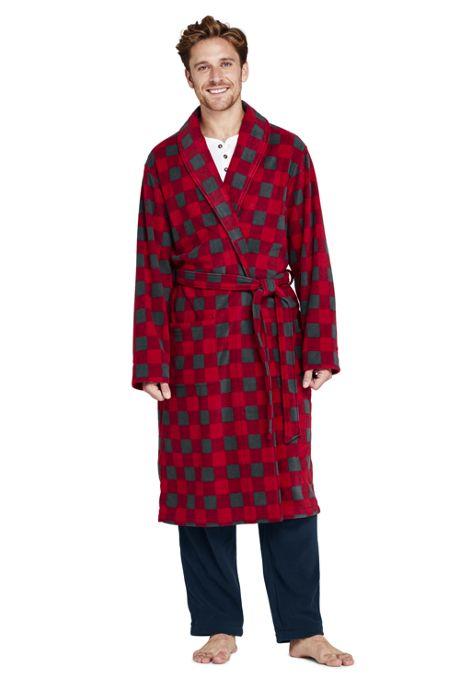 Men's Print Fleece Robe
