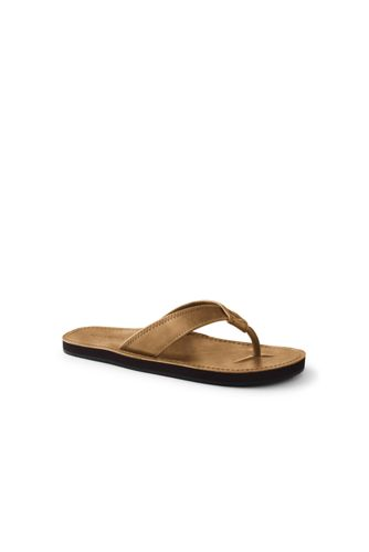 Men's Leather Flip Flop Sandals by Lands' End