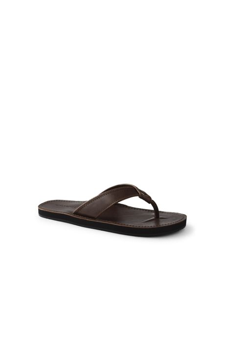 Men's Leather Flip Flop Sandals