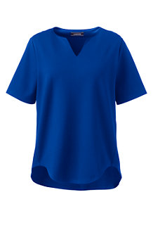 Women's Plus Ponté Split-neck Top