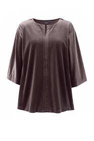 Women's Plus Size Velvet Kimono Sleeve Top