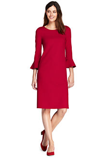Women's Flutter Sleeve Ponte Shift Dress