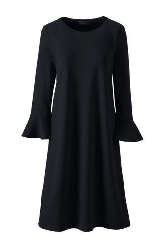 Ponté-Kleid mit Volant-Ärmeln für Damen in Normalgröße