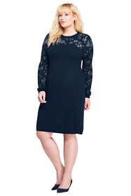 Women's Plus Size Long Sleeve Merino Sweater Dress