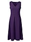 Ärmelloses Ponté-Kleid mit V-Ausschnitt für Damen in Normalgröße