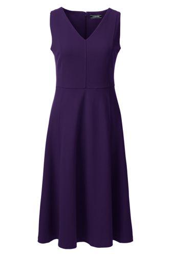 La Robe Évasée à Col V Sans Manches, Femme  Stature Standard