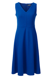 Women's V-neck Ponte Jersey Dress