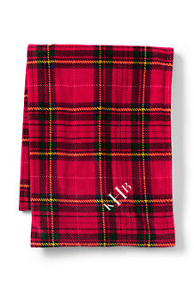Plush Printed Fleece Throw