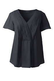 Women's Plus Size Pleat Front Tunic Top