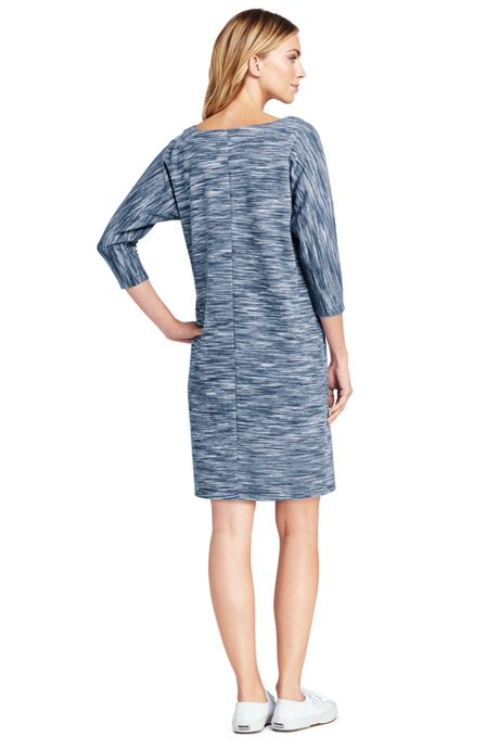 Women's 3/4 Sleeve Dolman Tee Dress