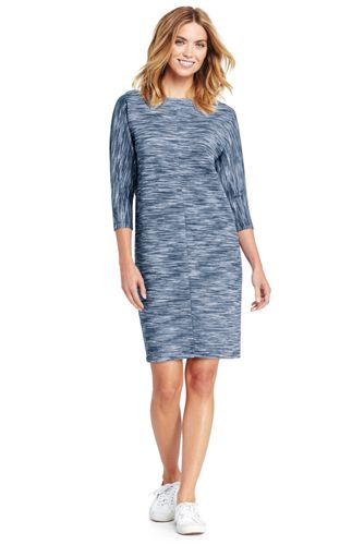 Women's Three-quarter Sleeve Dolman Tee Dress