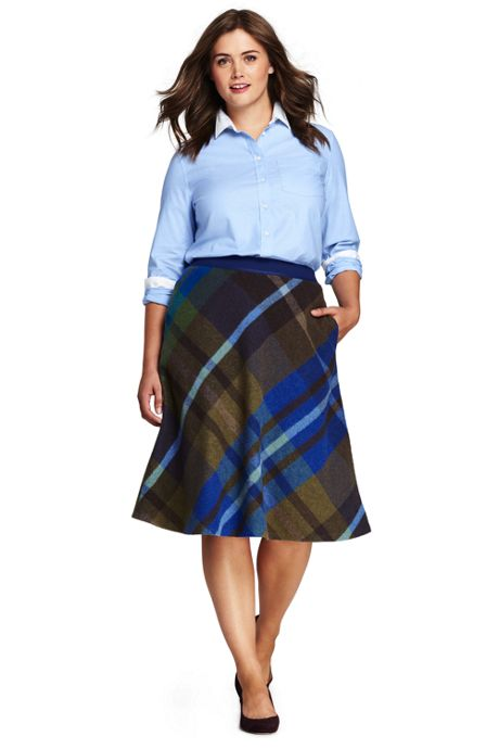 Women's Plus Size Woven A-line Skirt