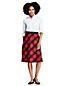 Women's Plaid A-line Skirt