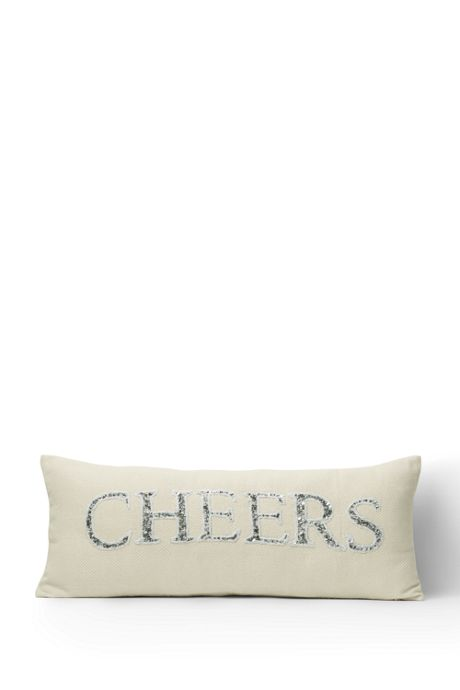 Beaded Decorative Christmas Pillow