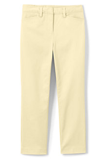 Women's Mid Rise Chino Cropped Trousers