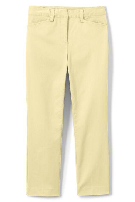 Women's Plus Size Mid Rise Chino Capri Pants