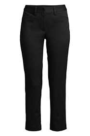 School Uniform Women's Plus Size Mid Rise Chino Crop Pants