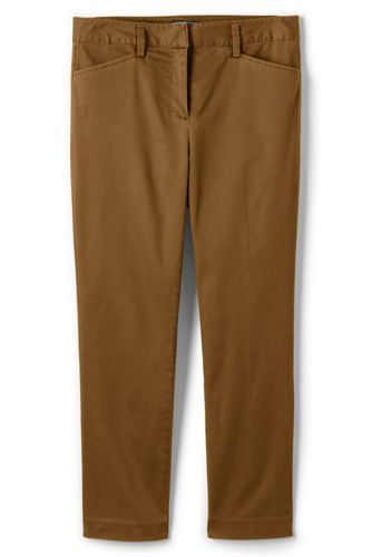 Women's Tall Mid Rise Chino Crop Pants by Lands' End