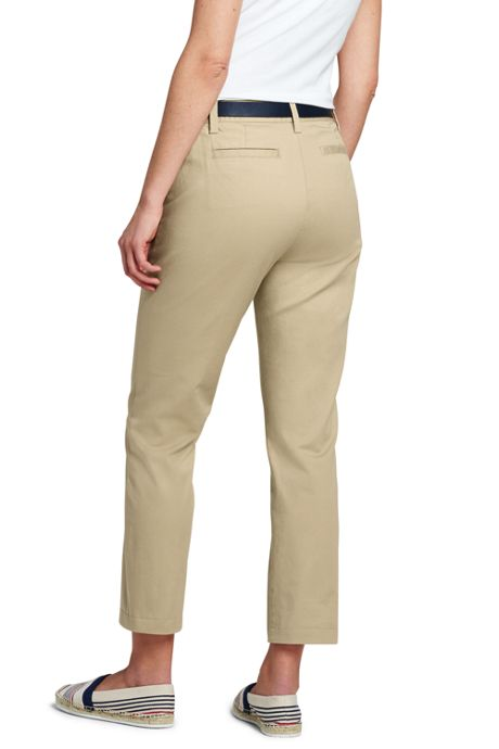 Women's Tall Mid Rise Chino Capri Pants