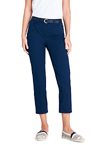 Womens LE Sport Studio Crops - 8 - BLUE Lands End