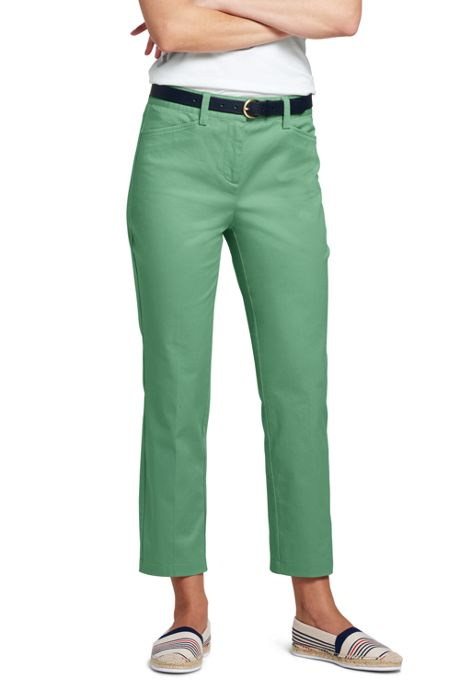 Women's Tall Mid Rise Chino Capri Pants