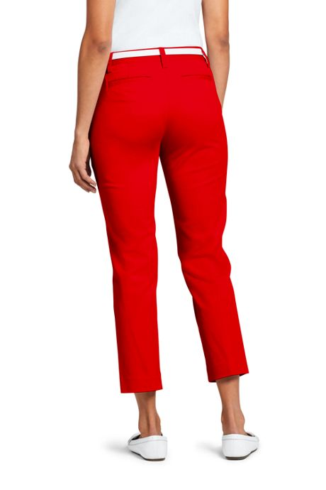 Women's Mid Rise Chino Capri Pants