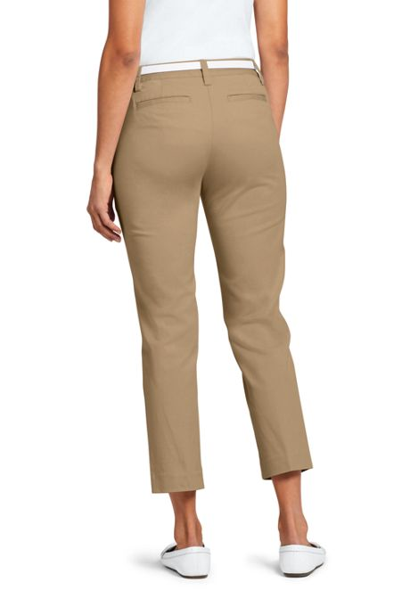 School Uniform Women's Mid Rise Chino Capri Pants
