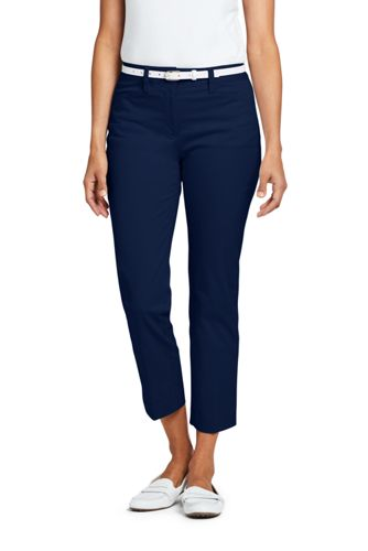 Women's Plus Size Mid Rise Bi-Stretch Capri Pants