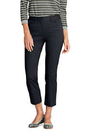 School Uniform Women's Petite Mid Rise Chino Crop Pants