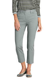 School Uniform Women's Mid Rise Chino Crop Pants