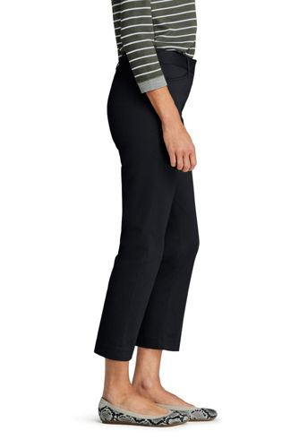 Women's Tall Mid Rise Chino Crop Pants