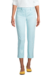 Women's Mid Rise Cropped Chino Trousers