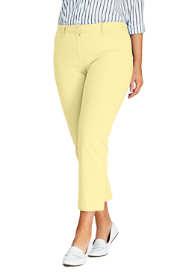 Women's Plus Size Mid Rise Chino Crop Pants