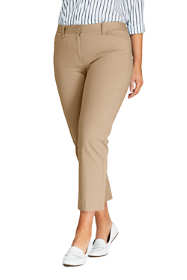 Women's Plus Size Mid Rise Chino Crop Pants