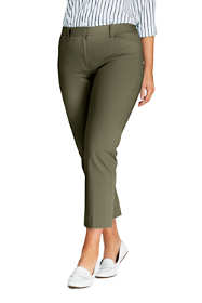 Women's Plus Size Mid Rise Chino Capri Pants