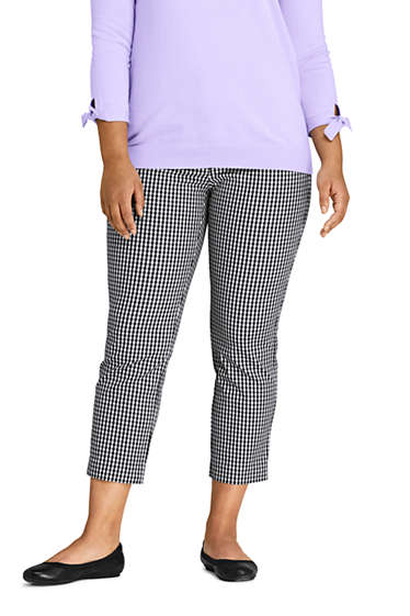 67090a62f37 Women s Plus Size Mid Rise Chino Crop Pants from Lands  End