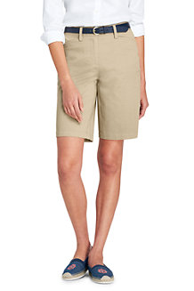 Women's Mid Rise 10″ Bermuda Chino Shorts