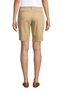 "Women's Petite Mid Rise 10"" Chino Bermuda Shorts, Back"