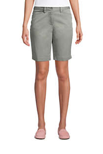"Women's Mid Rise 10"" Chino Bermuda Shorts, Front"