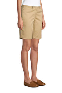 "Women's Petite Mid Rise 10"" Chino Bermuda Shorts, alternative image"