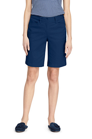 95f558cb9 Women's Mid Rise 10″ Bermuda Chino Shorts | Lands' End