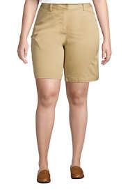 "Women's Plus Size Mid Rise 10"" Chino Bermuda Shorts"